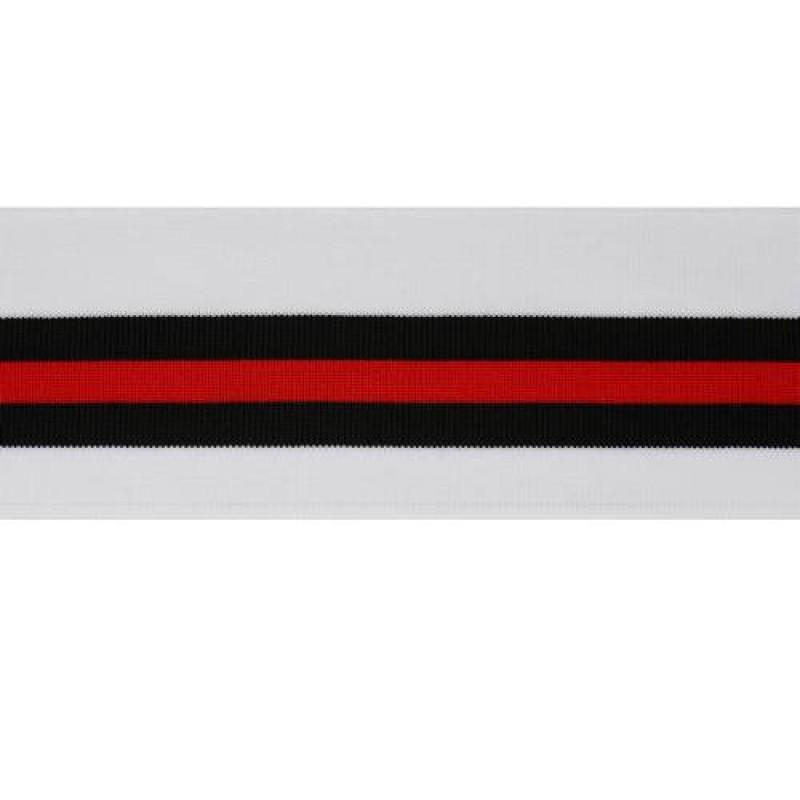 Подвяз 1*1 полиэстер 6,5*120см, цв:белый/черный/красный