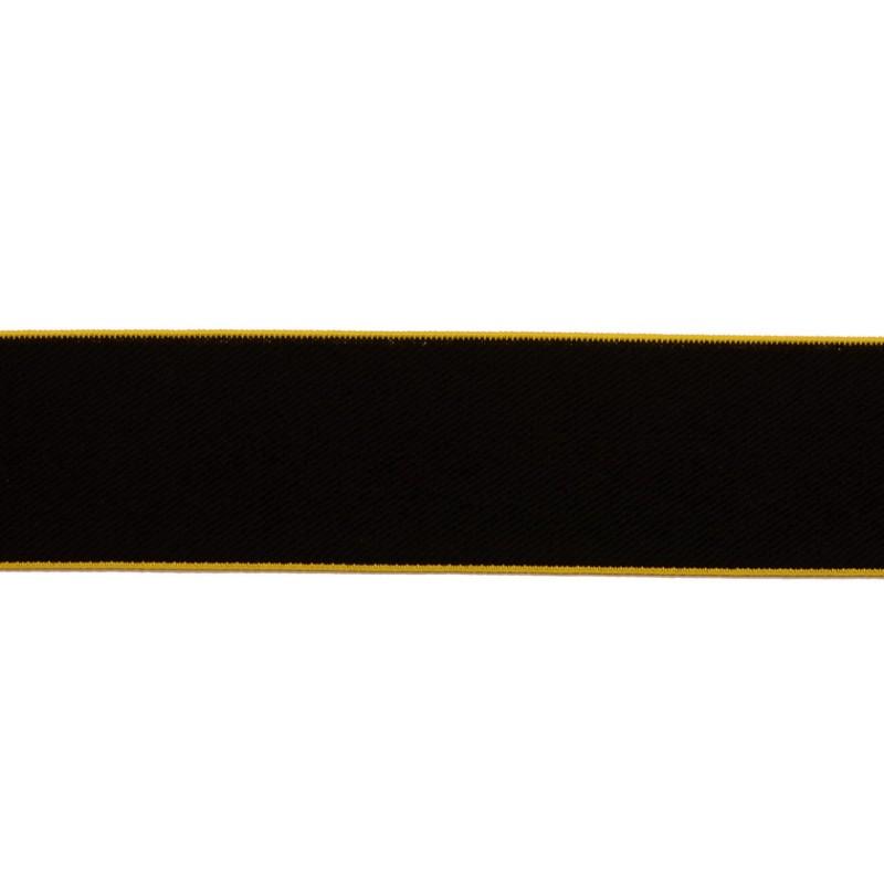 Резинка нейлон 4см 43-45м/рулон,цв:черный/желтый