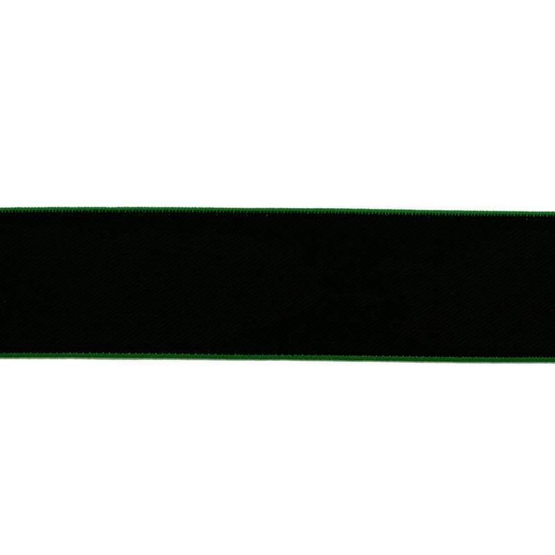 Резинка нейлон 4см 43-45м/рулон,цв:черный/электрик