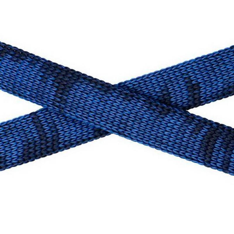 Шнур плоский п/э, 1см, 68-70м/рул, цв: синий/черный