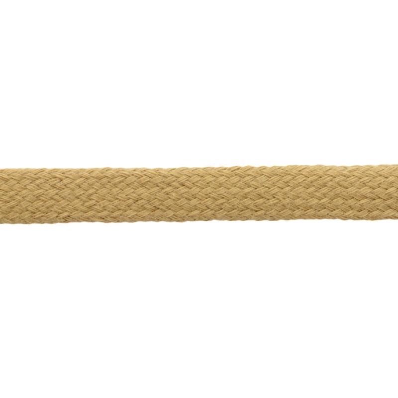 Шнур плоский хлопок чулок, 1,2см 68-70м/рулон, цв: бежевый