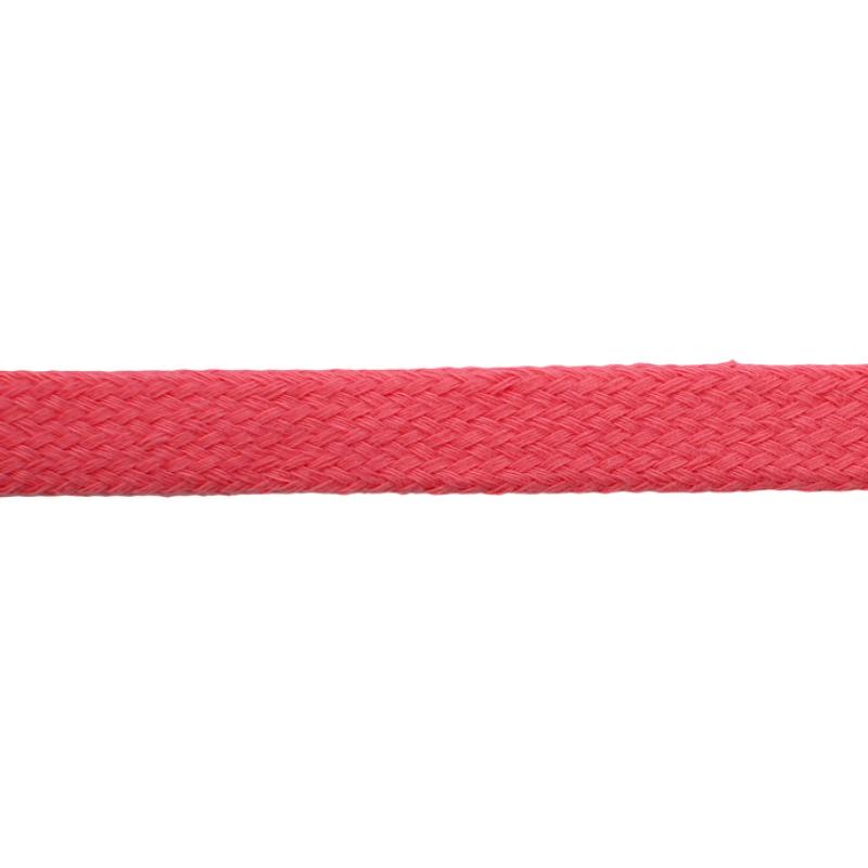 Шнур плоский хлопок чулок, 1,2см 68-70м/рулон, цв: лососево-розовый