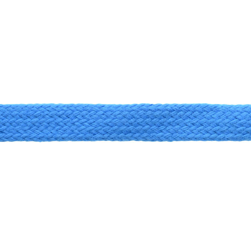 Шнур плоский хлопок чулок, 1,2см 68-70м/рулон, цв: морская волна