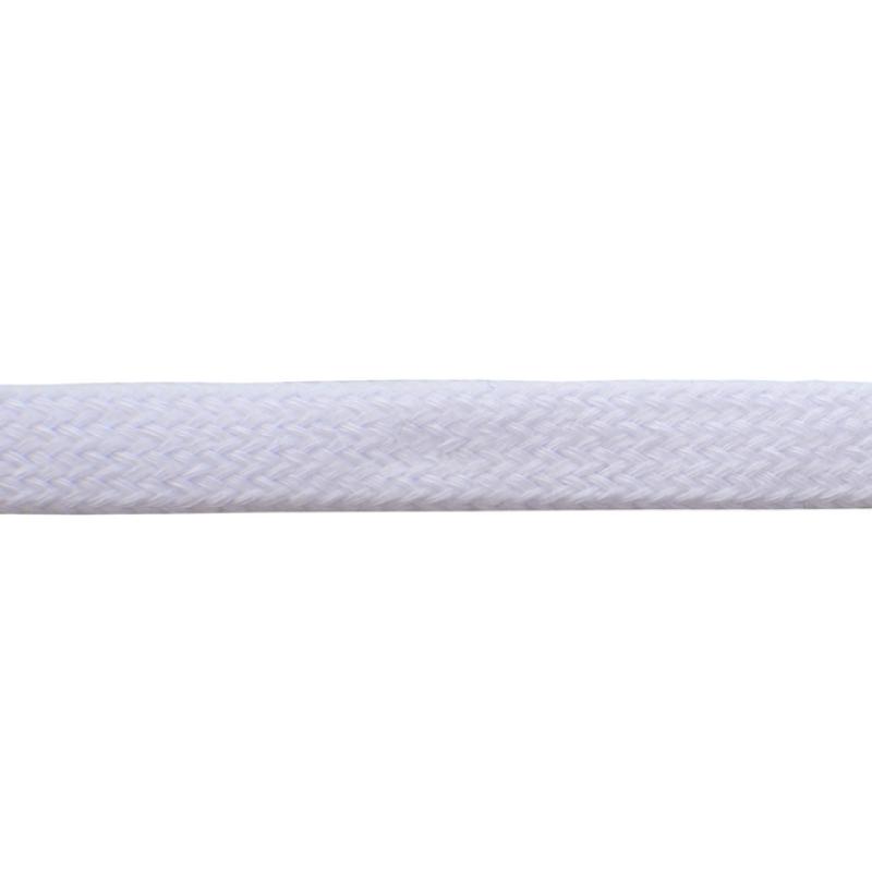 Шнур плоский хлопок чулок, 1,2см 68-70м/рулон, цв: кипенно-белый