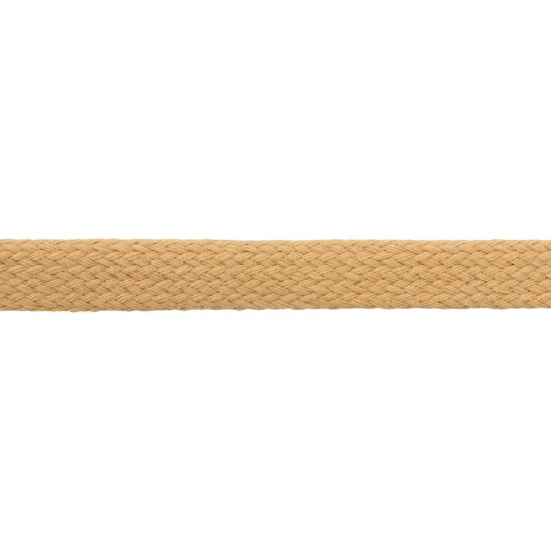 Шнур плоский хлопок чулок, 1,2см 68-70м/рулон, цв: крем-брюле