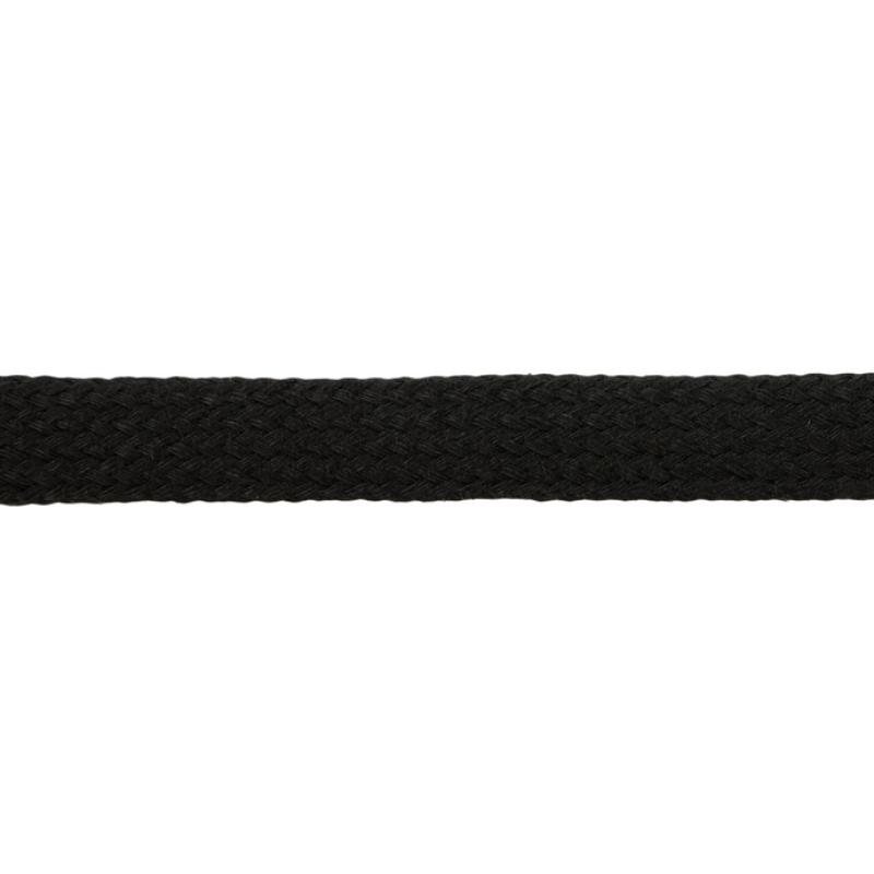 Шнур плоский хлопок чулок, 1,2см 68-70м/рулон, цв: чернильно-синий