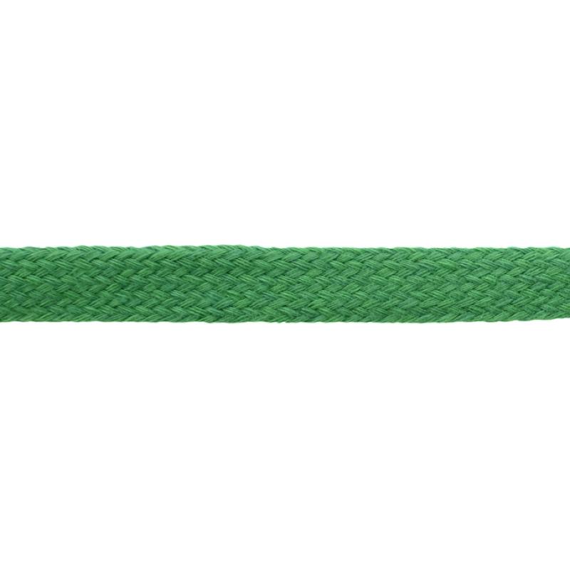 Шнур плоский хлопок чулок, 1,2см 68-70м/рулон, цв: лесная зелень