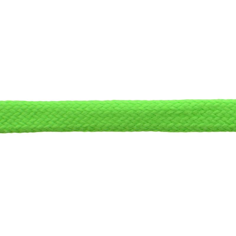 Шнур плоский хлопок чулок, 1,2см 68-70м/рулон, цв: салатовый неон