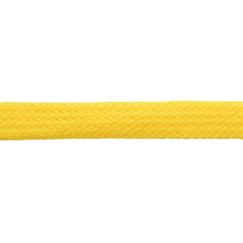 Шнур плоский хлопок чулок, 1,2см 68-70м/рулон, цв: лимонный