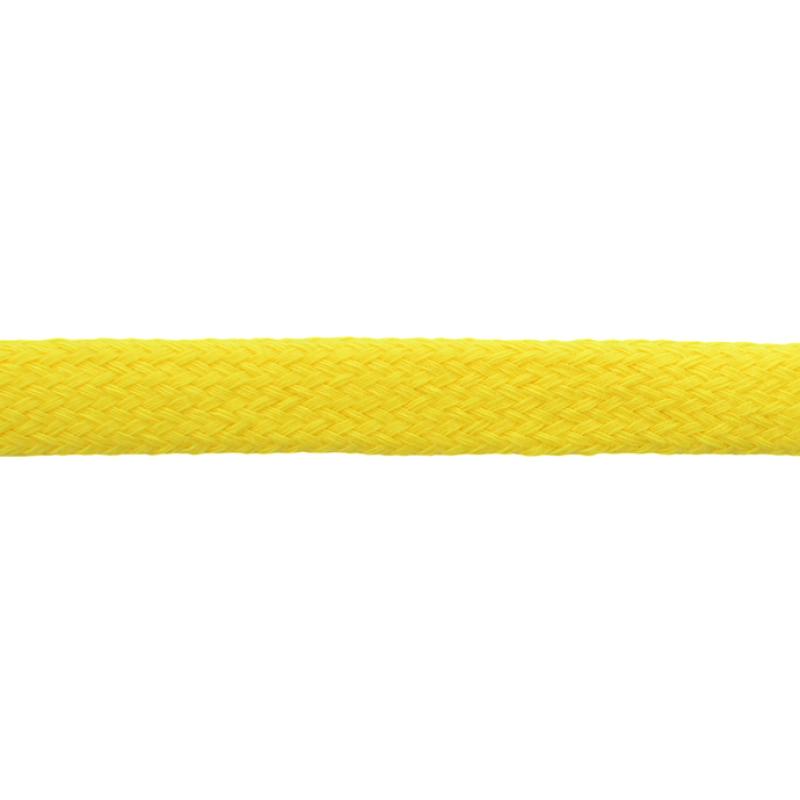 Шнур плоский хлопок чулок, 1,2см 68-70м/рулон, цв: ярко-желтый