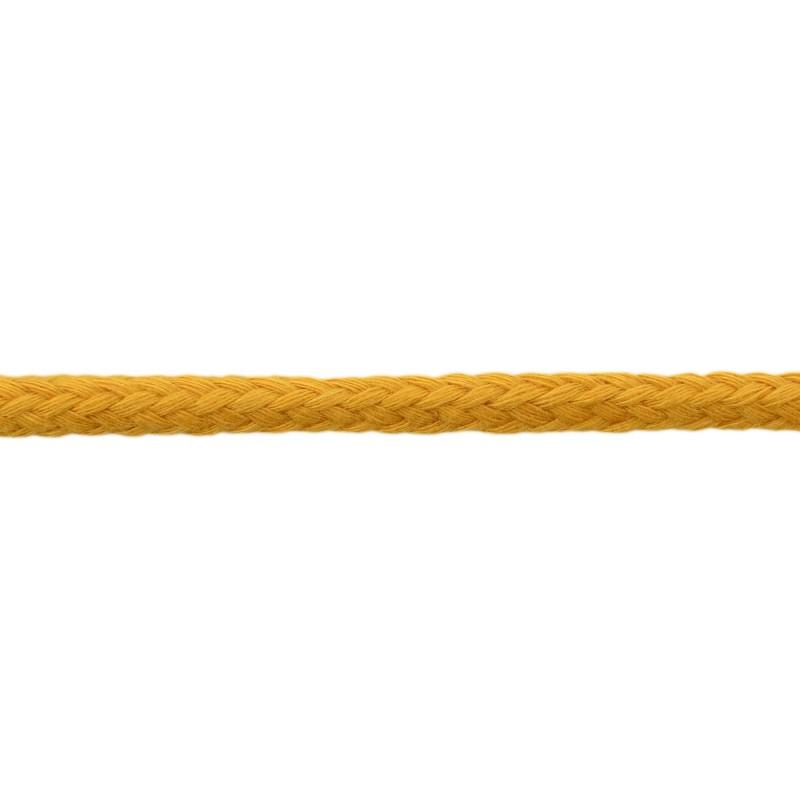 Шнур круглый без сердечника хлопок 0,5см 68-70м/рулон, цв: светлая охра