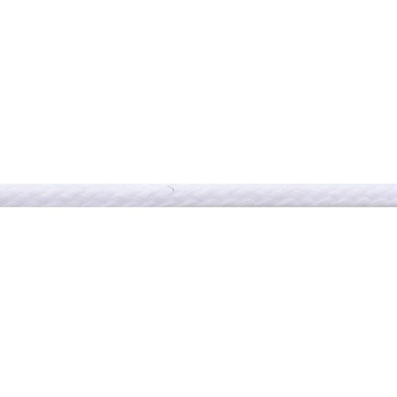 Шнур круглый без сердечника хлопок 0,5см 68-70м/рулон, цв: белый