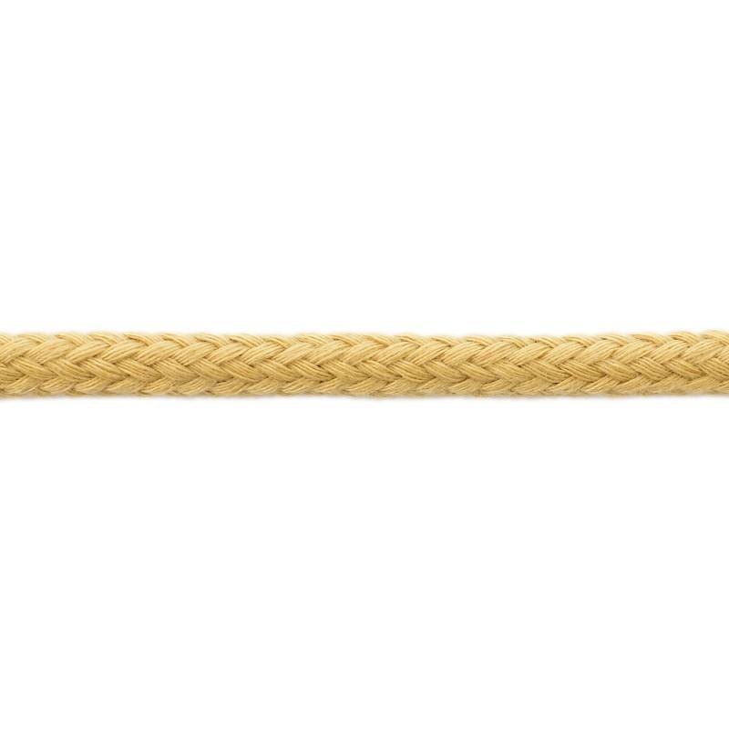 Шнур круглый без сердечника хлопок 0,5см 68-70м/рулон, цв: латте