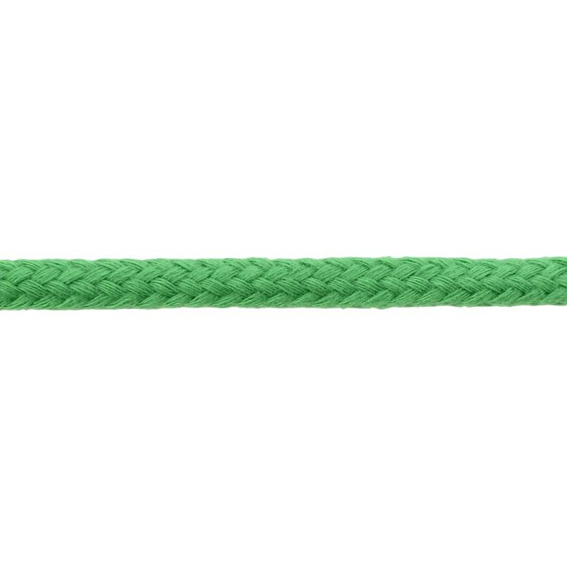 Шнур круглый без сердечника хлопок 0,5см 68-70м/рулон, цв: лесная зелень
