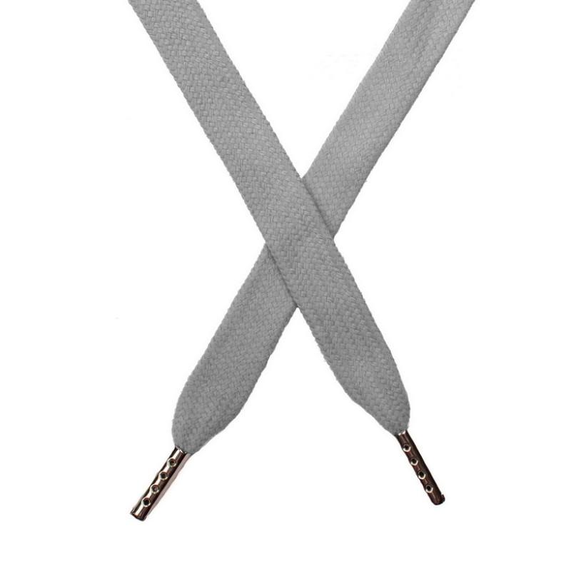 Шнур плоский хлопок 1,5*140см с наконечником, цв:гейнсборо