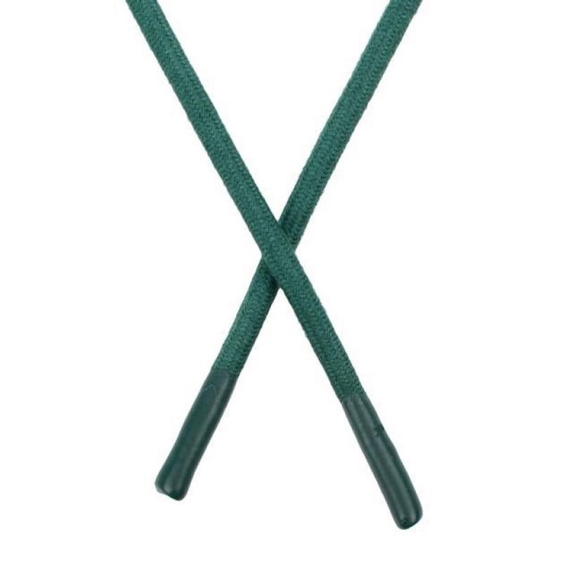 Шнур круглый хлопок 0,6*150см с наконечником, цв:сосновый