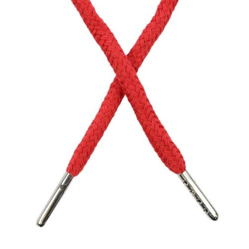 Шнур круглый хлопок 0,5*133см с наконечником, цв: кардинал