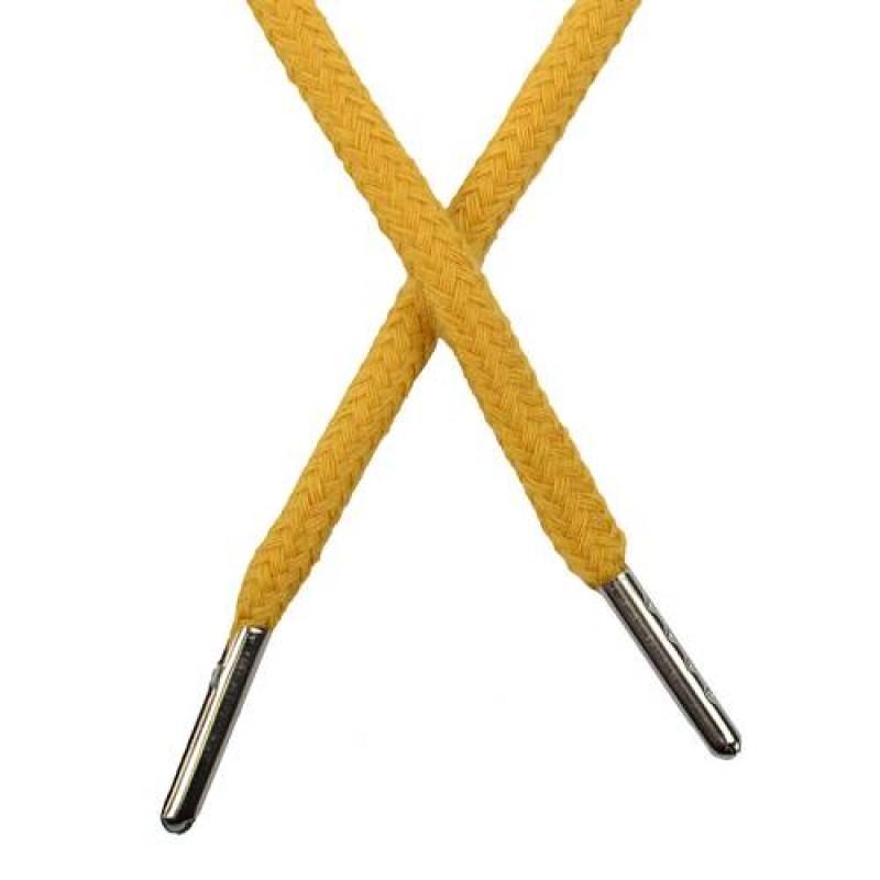 Шнур круглый хлопок 0,5*133см с наконечником, цв: шафрановый