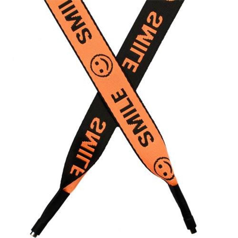 Шнур плоский п/э 2,5*135см с наконечником, цв: оранжевый