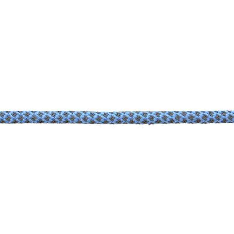 Шнур круглый светоотражающий п/э 0,5см, 73-75м/рул, цв: голубой
