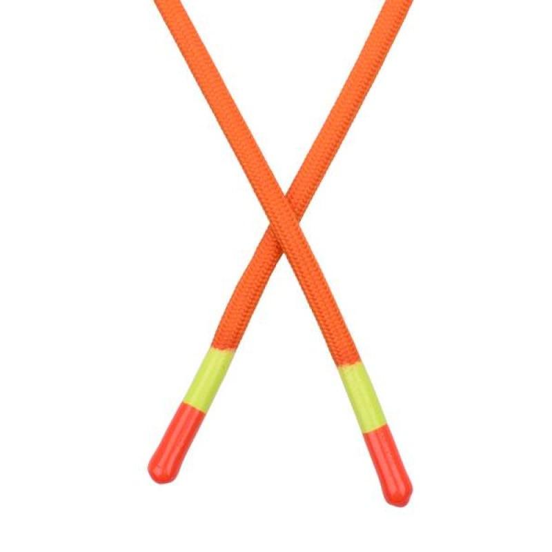 Шнур круглый полиэстер  0,5*140см с наконечником, цв: оранжевый