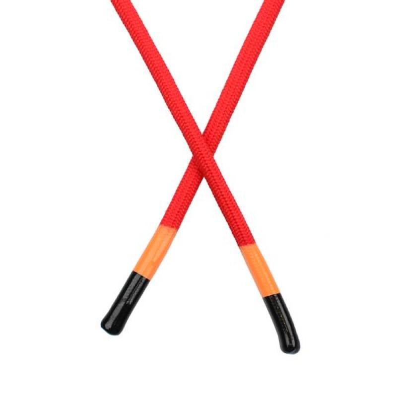 Шнур круглый полиэстер  0,5*140см с наконечником, цв: красный