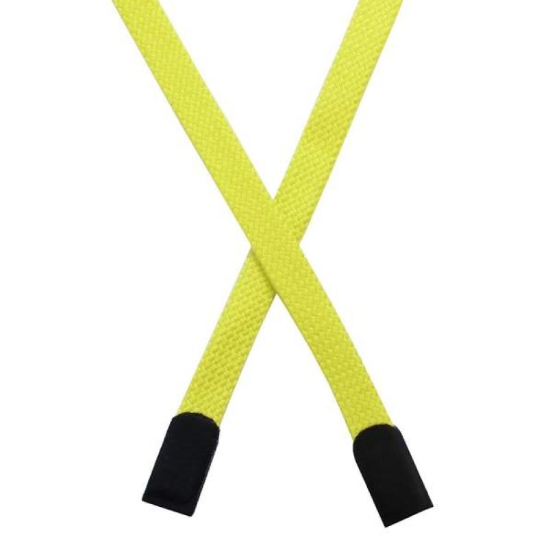 Шнур плоский хлопок 0,8*135см с наконечником, цв: канареечный
