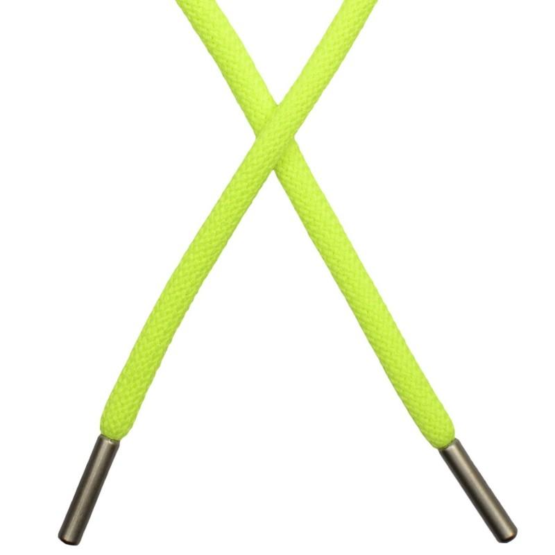 Шнур круглый п/э 0,5*130см с наконечником, цв: салатовый неон