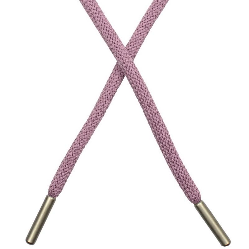 Шнур круглый п/э 0,5*130см с наконечником, цв: холодная пудра