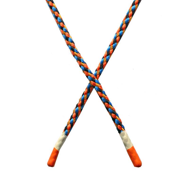 Шнур круглый плетенный хлопок 0,5*130см с наконечником, цв:мультиколор