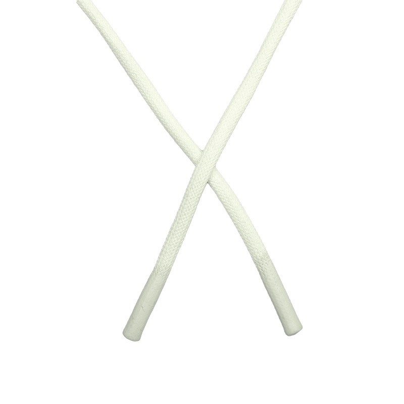 Шнур круглый полиэстер 0,5*145см с наконечником, цв:белый