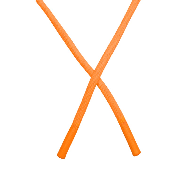 Шнур круглый полиэстер 0,5*145см с наконечником, цв:оранжевый неон