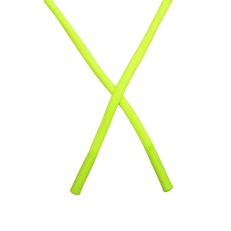 Шнур круглый полиэстер 0,5*145см с наконечником, цв:салатовый неон
