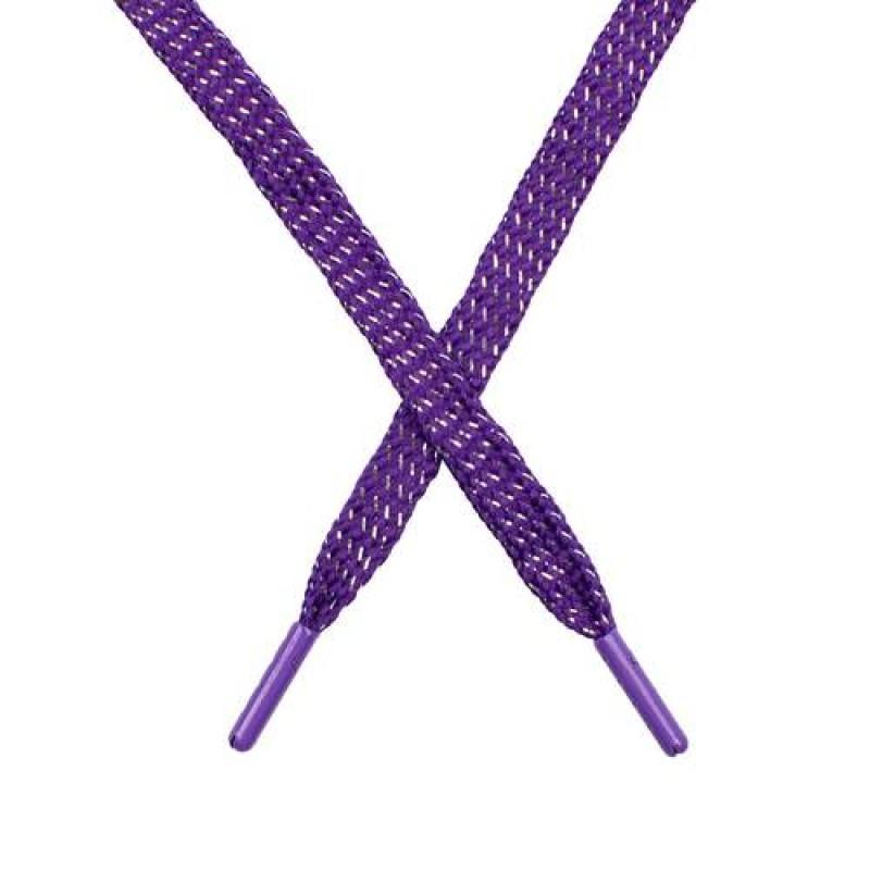 SALE Шнур плоский чулок полиэстер/люрекс  0,8*119см, цв: фиолетовый