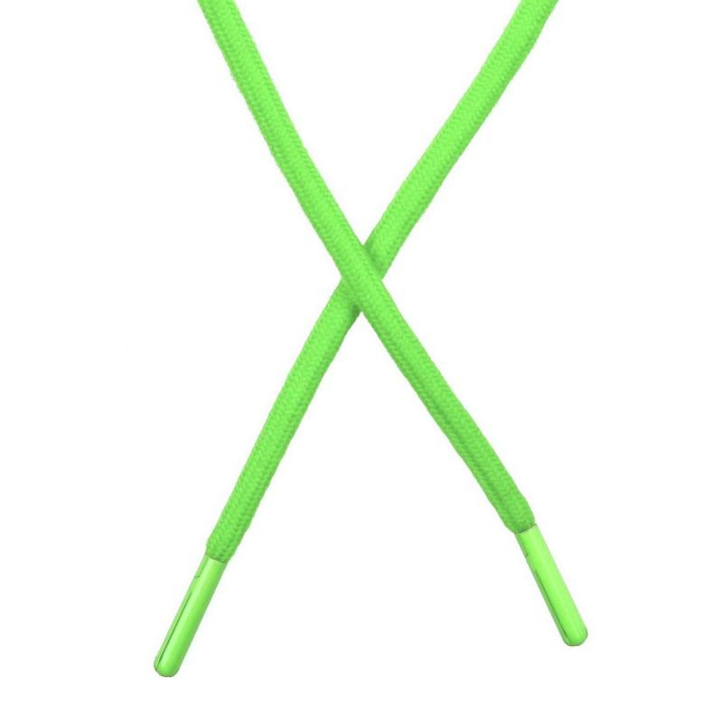 Шнур поликоттон круглый 0,6*130-135см с наконечником, цв:салатовый