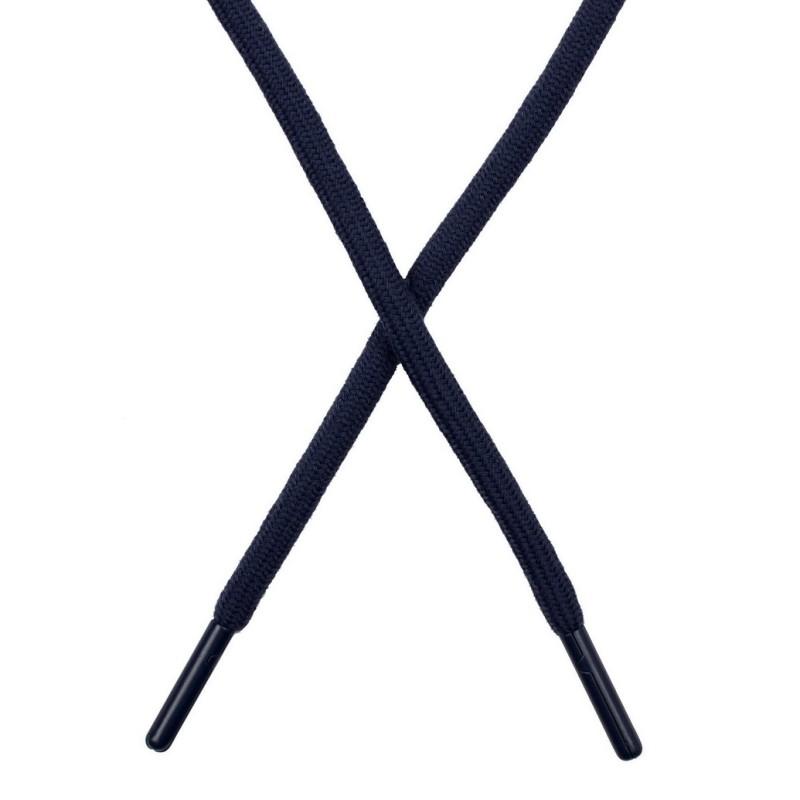 Шнур поликоттон круглый 0,6*130-135см с наконечником, цв:синий