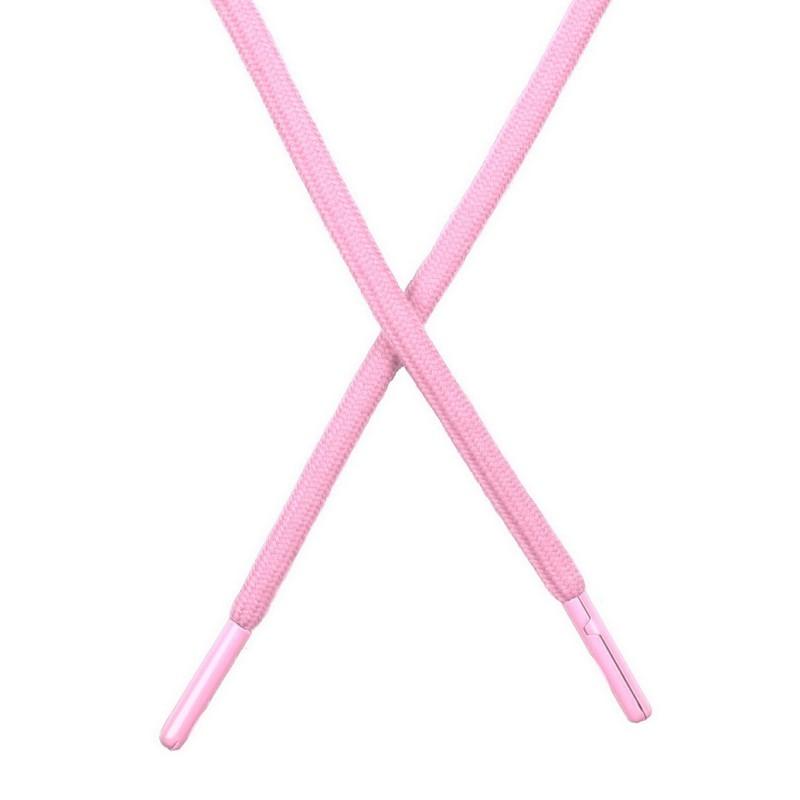 Шнур поликоттон круглый 0,6*130-135см с наконечником, цв:нежно-розовый