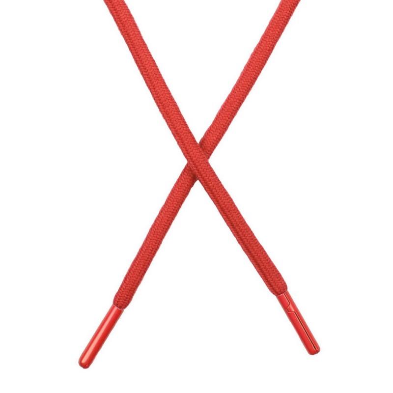 Шнур поликоттон круглый 0,6*130-135см с наконечником, цв:каралловый