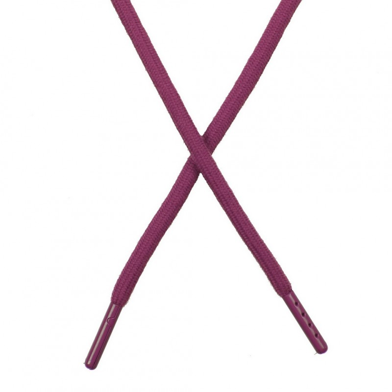 Шнур поликоттон круглый 0,6*130-135см с наконечником, цв:инжир