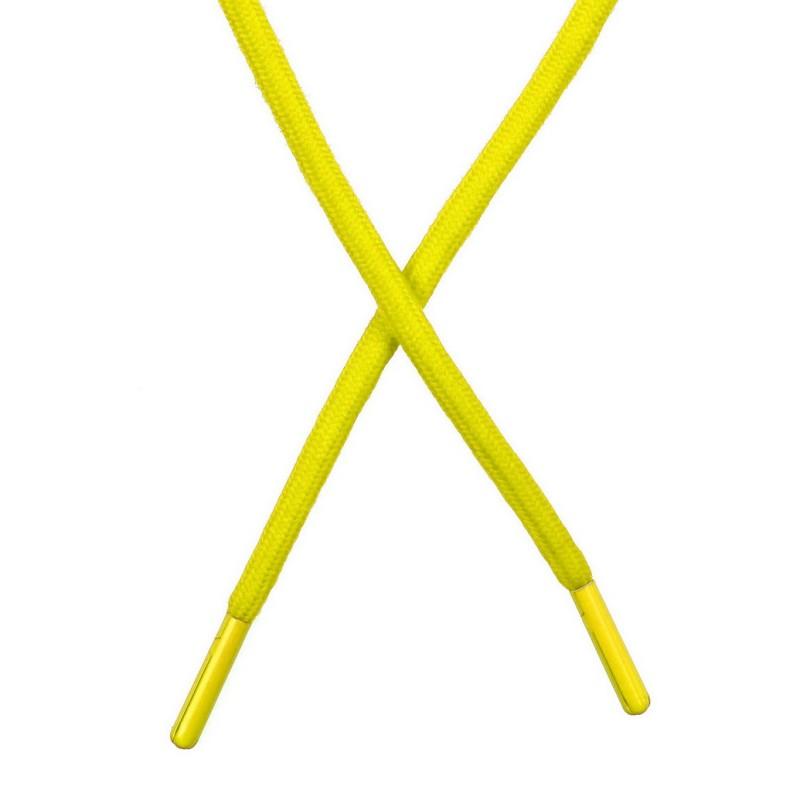 Шнур поликоттон круглый 0,6*130-135см с наконечником, цв:лайм