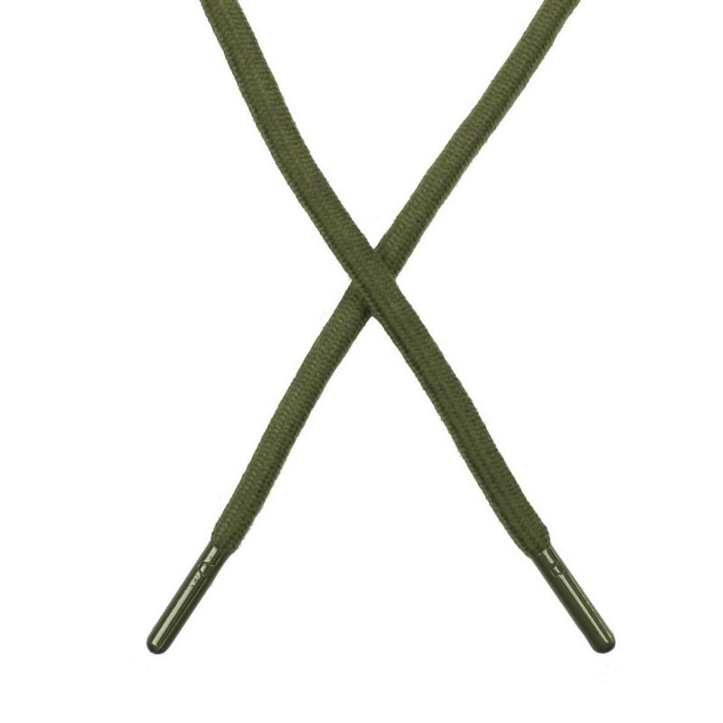 Шнур поликоттон круглый 0,6*130-135см с наконечником, цв:св.хаки