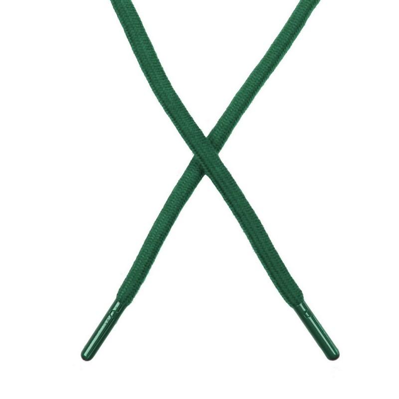 Шнур поликоттон круглый 0,6*130-135см с наконечником, цв:малахит