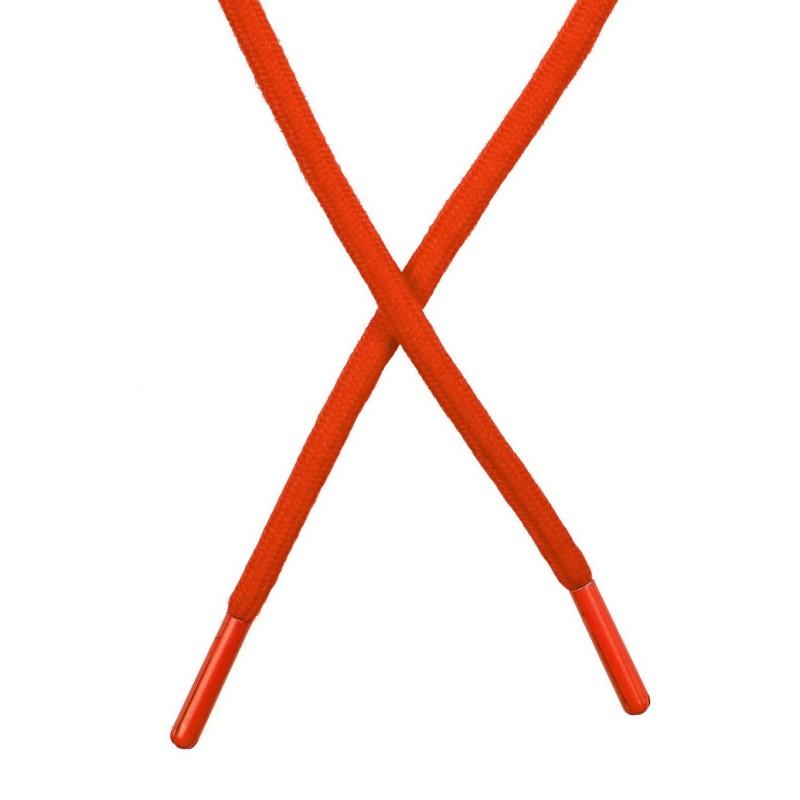 Шнур поликоттон круглый 0,6*130-135см с наконечником, цв:морковный