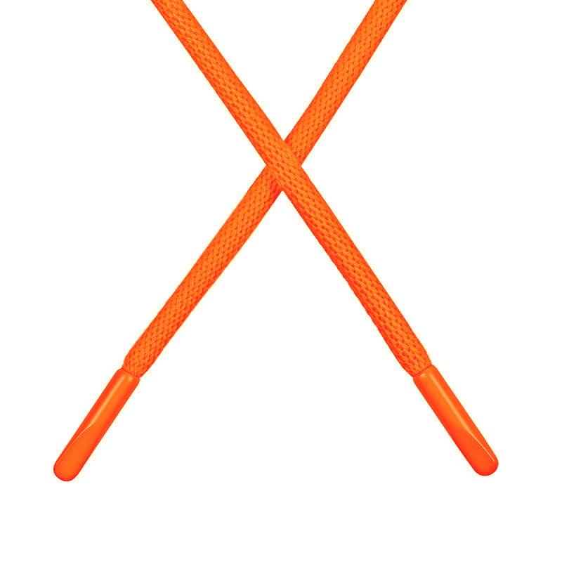 Шнур круглый поликоттон 0,5*135-140см с наконечником, цв:оранжевый неон
