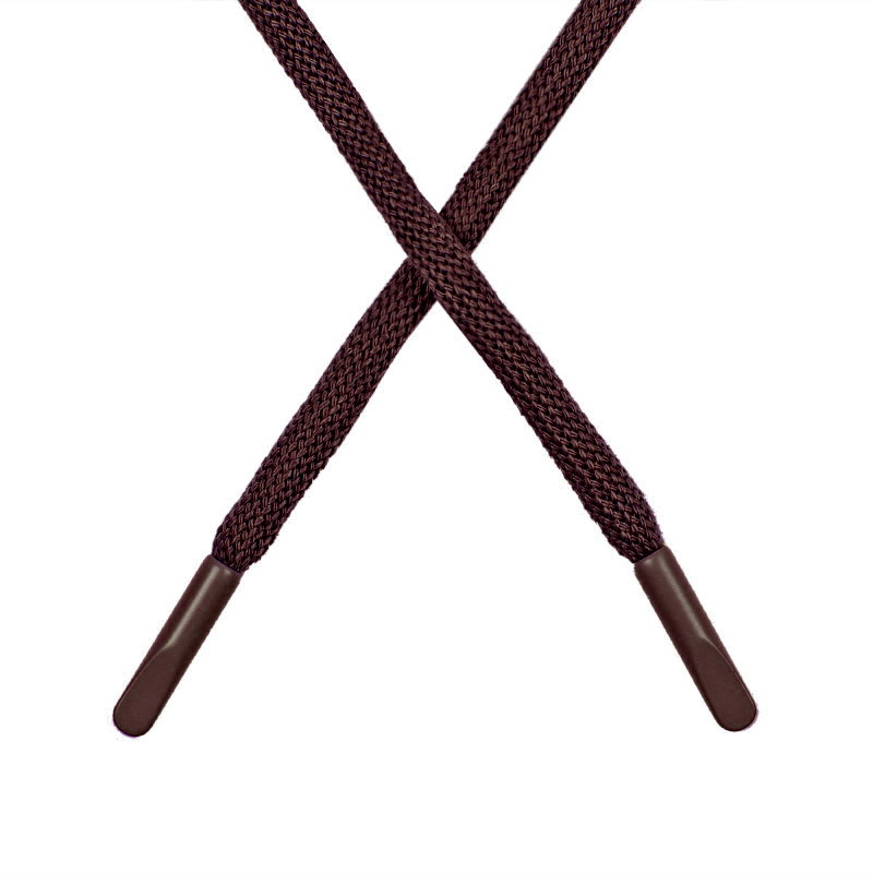 Шнур круглый поликоттон 0,5*135-140см с наконечником, цв:морро