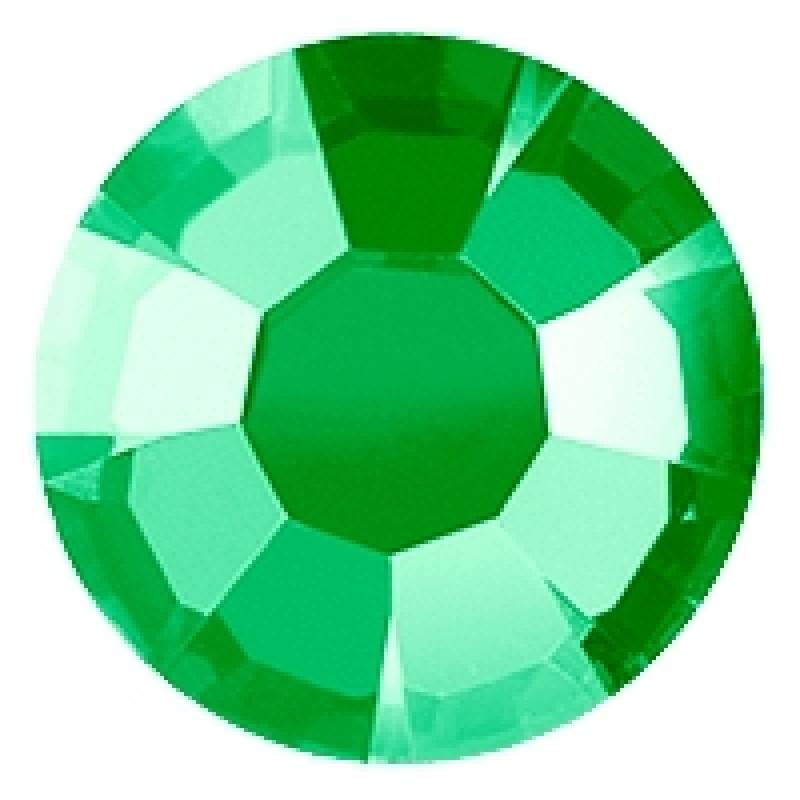 Термоклеевые стразы GREEN  SS16 диаметр 3.8-4.0мм