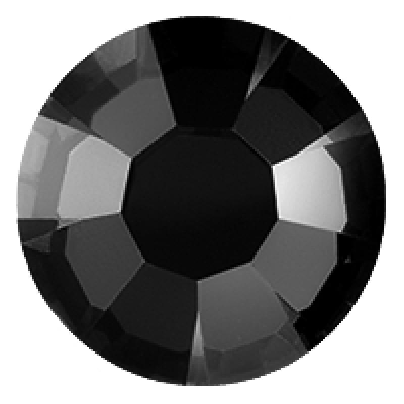 Термоклеевые стразы JET BLACK диаметр 3.8-4.0мм