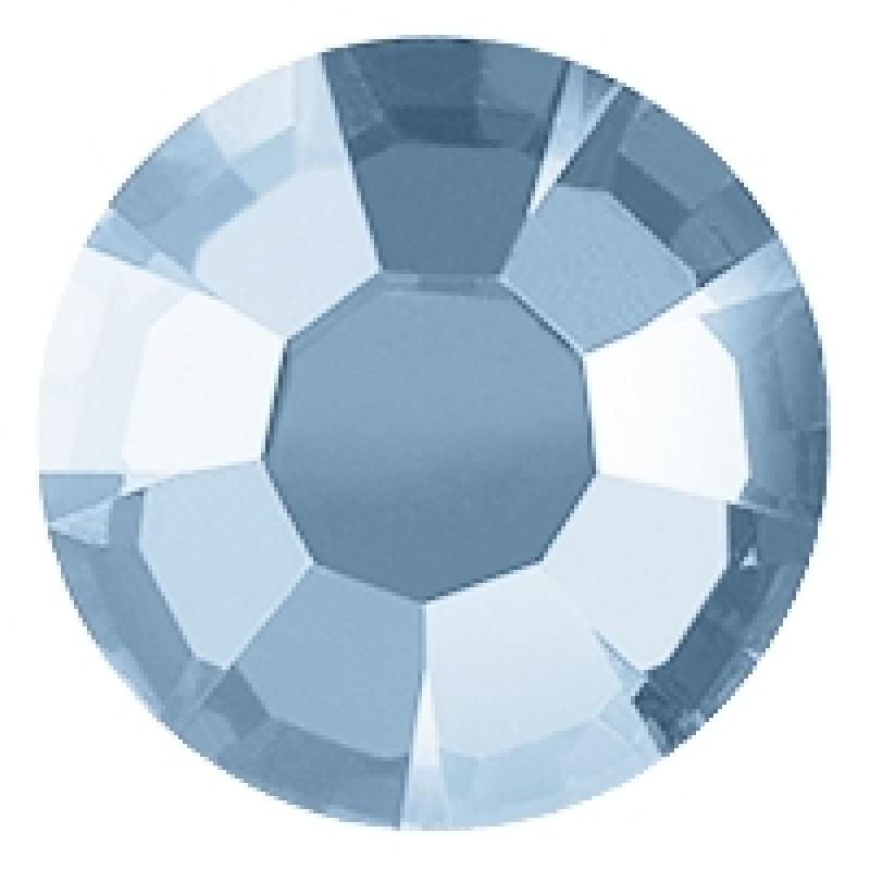 Термоклеевые стразы TRANSP ARENT BLUE  диаметр 3.8-4.0мм
