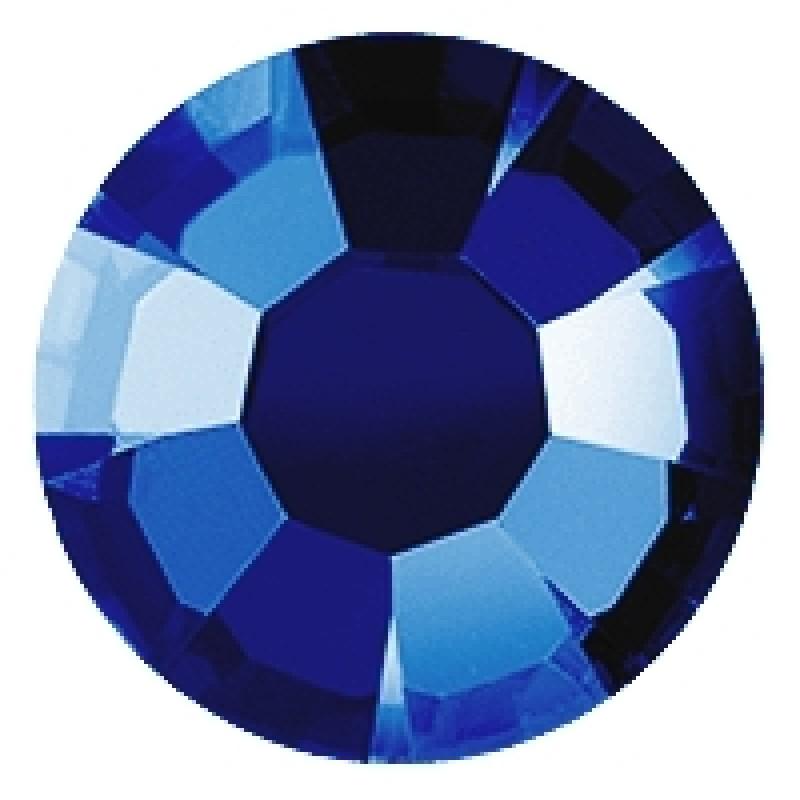 Термоклеевые стразы CAPR BLUE  диаметр 3.8-4.0мм
