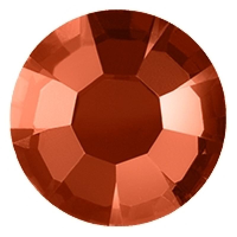 Термоклеевые стразы FLAME RED  диаметр 3.8-4.0мм